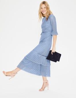 Hazy Blue Lana Lace Midi Dress