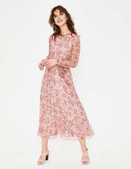 Milkshake Floral Bloom Kyra Silk Midi Dress
