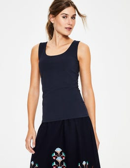 Navy Double Layer Front Vest