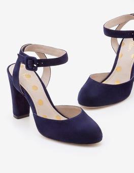 Navy Bessie Heels