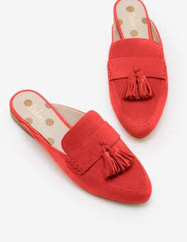Red Pop Katie Backless Loafers