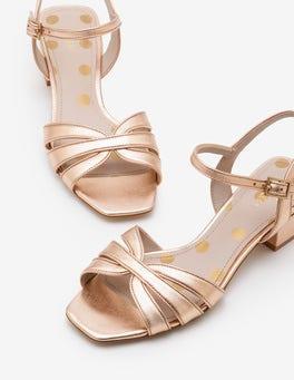 Rose Gold Metallic Nerissa Sandals