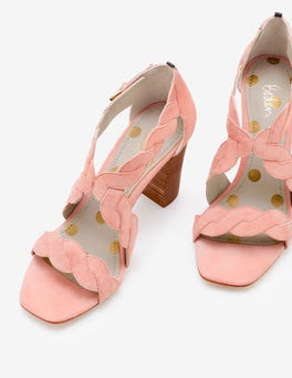 Chalky Pink Rosalie Heels