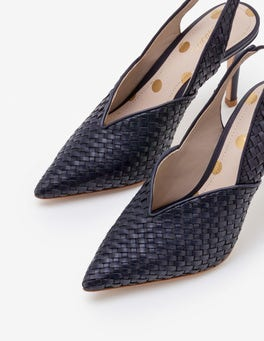 Hazel Pumps mit Webstruktur