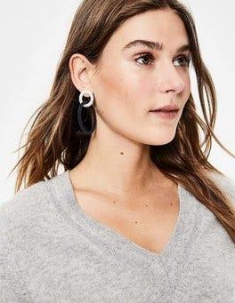 Boucles d'oreilles circulaires en perles