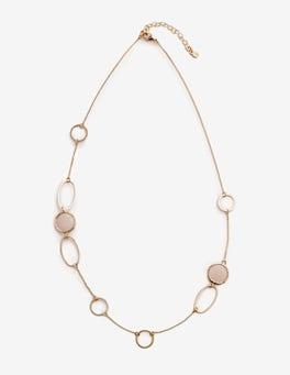 Gold and Rose Quartz Semi-precious Shapes Necklace