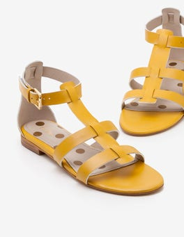 Bright Dijon Eva Gladiator Sandals