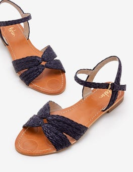 Navy Beatrix Sandals