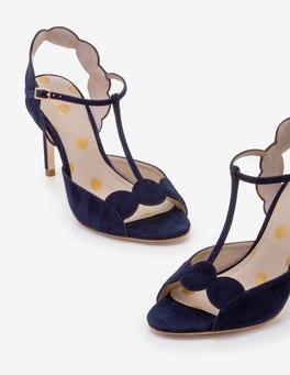 Navy Cecile Heels