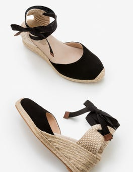 Black Cassie Espadrille Wedges
