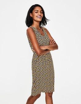 Navy/Happy Scattered Fruit Melinda Jersey Dress