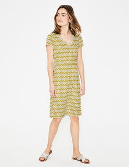 Dijon Daisy Stripe Penelope Jersey Dress