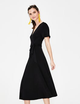 Black Cassia Jersey Midi Dress