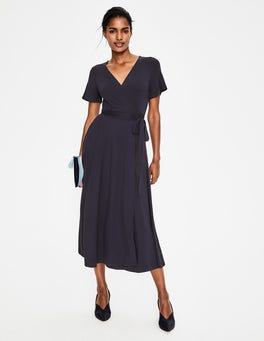 Navy Cassia Jersey Midi Dress