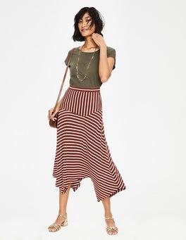 Conker/Ivory Stripe Evelyn Jersey Skirt