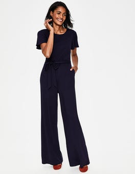 Navy Camille Ponte Jumpsuit