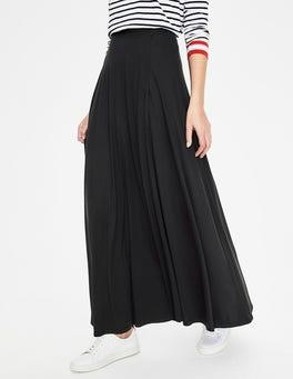 Black Albany Jersey Maxi Skirt