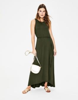 Khaki Delphine Jersey Maxi Dress