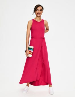 Strawberry Split Delphine Jersey Maxi Dress