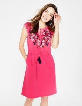 Strawberry Split Catriona Embroidered Dress