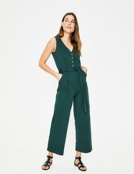 Woodland Green Bryony Jersey Jumpsuit