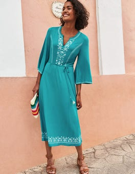 Remi Embroidered Midi Dress
