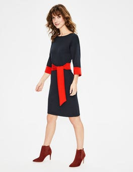 Navy Esmeralda Knitted Dress