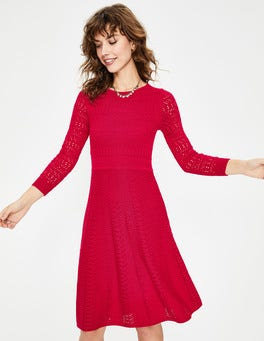 Dark Rose Poppy Knitted Dress