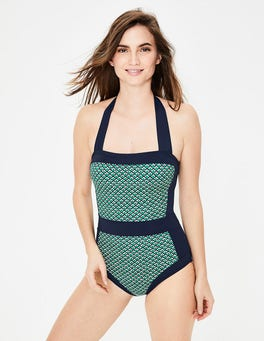 Highland Green, Sketchy Geo Santorini Swimsuit