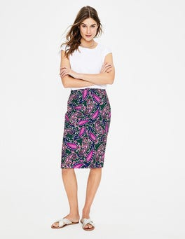 Woodland Green, Paisley Modern Pencil Skirt