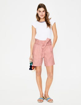 Chalky Pink St Ives Paperbag Shorts
