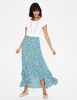 Heron Blue, Daisy Field Coraline Midi Skirt