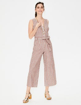 Conker and Ivory Stripe Verity Jumpsuit