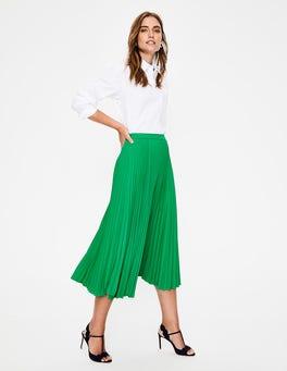 Highland Green Kristen Pleated Skirt