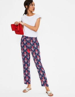Navy, Tropical Fruit Bembridge Trousers