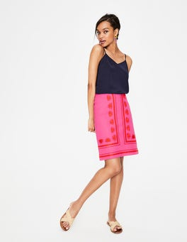 Tickled Pink Victoria Embroidered Skirt