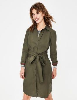 Khaki Modern Shirt Dress