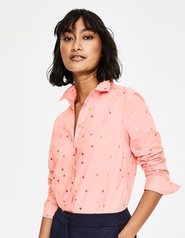 Chalky Pink with Foil Spot Modern Classic Shirt