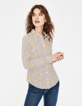 Naturweiß, Gänseblümchen Modern klassisches Hemd