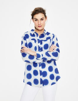 Lapis, Ikat Spot Linen Shirt