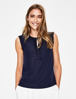 Navy Peggy Top