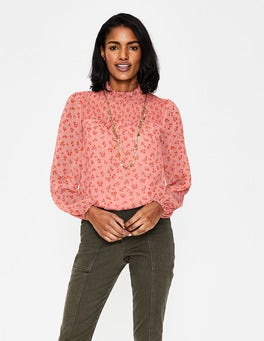 Chalky Pink Daisy Field Janie Top
