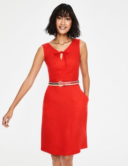 Red Pop Rae Linen Dress