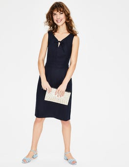 Navy Rae Linen Dress