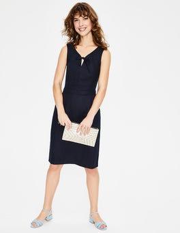 Navy Rae Linen Dress