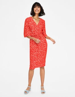 Red Pop Olive Branch Ines Dress
