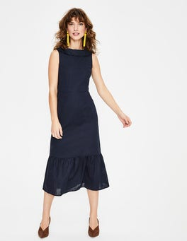 Navy Clarice Midi Dress