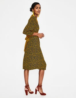 Navy Olive Branch Ariadne Dress