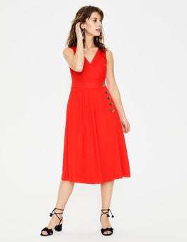 Red Pop Arwen Midi Dress
