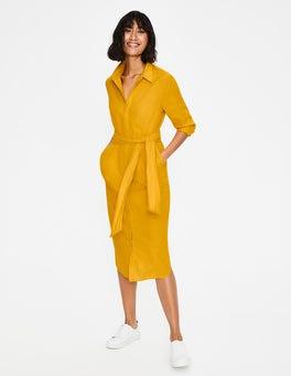 Happy Freya Linen Shirt Dress